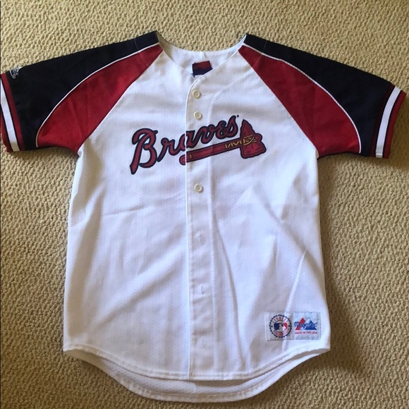 pretty nice 8a943 dc879 Kids Atlanta Braves Greg Maddux Jersey